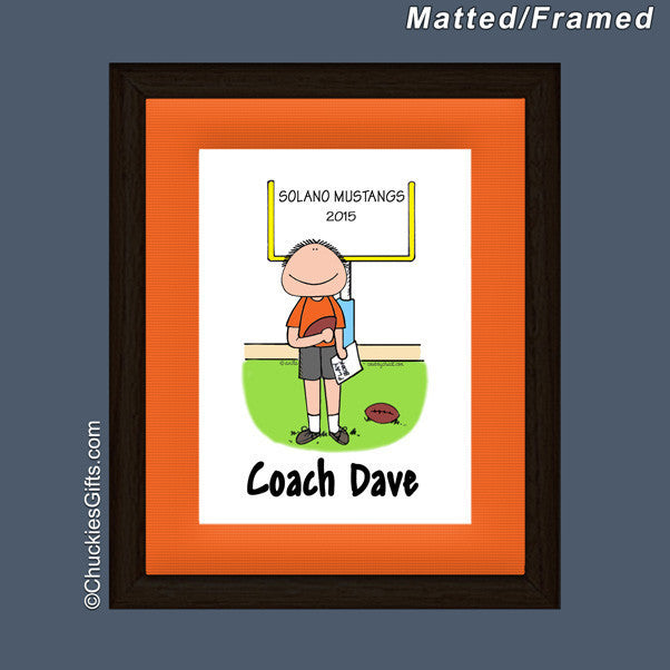 Football Coach Mat/Frame | Value Collection