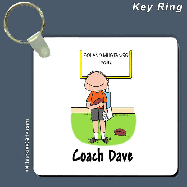 Football Coach Key Ring Male Personalized