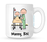 Personalized Recovery Nurse Mug Male