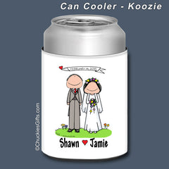 Wedding Can Cooler Personalized