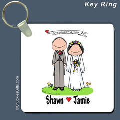 Wedding Key Ring Personalized