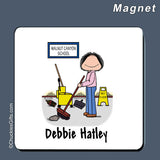 Custodian Magnet Female Personalized