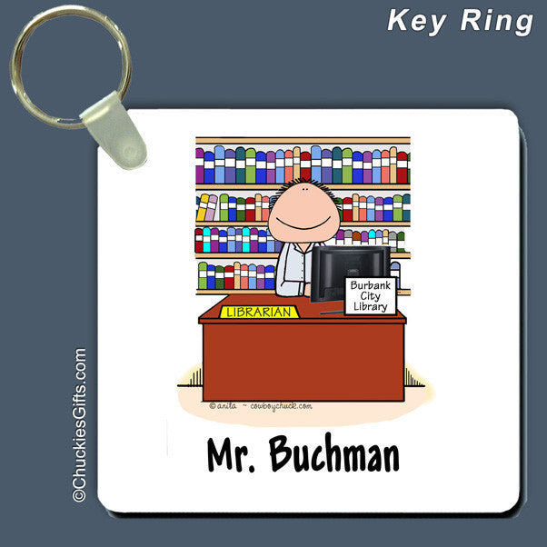 Librarian Key Ring Male Personalized