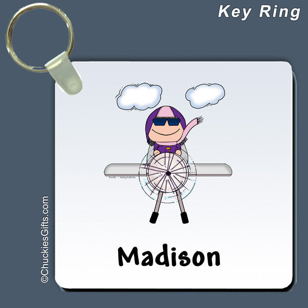 Pilot Key Ring Female Personalized