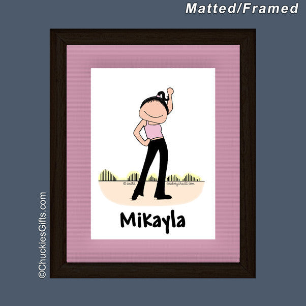 Dancer Mat/Frame Female Personalized
