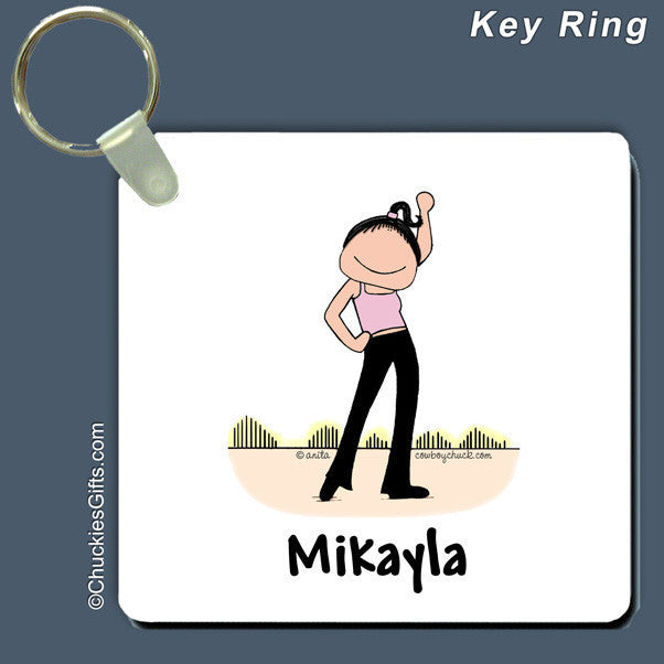 Dancer Key Ring Female Personalized