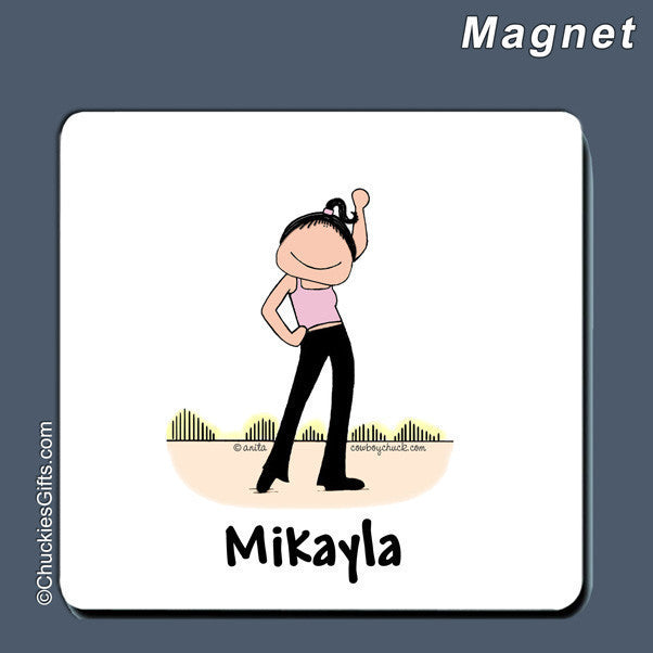 Dancer Magnet Female Personalized