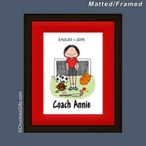 PE Teacher Mat/Frame Female Personalized