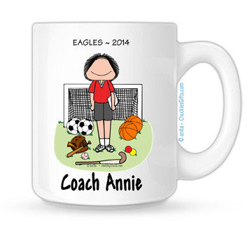PE Teacher Mug Female - Personalized