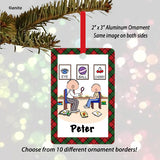Speech Therapist Ornament Male - Personalized