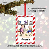 Speech Therapist Ornament Female - Personalized