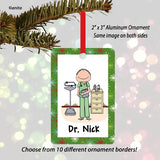 Doctor / Nurse in Scrubs Ornament Male - Personalized