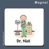 Doctor / Nurse in Scrubs Magnet Male Personalized