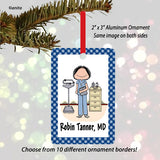 Doctor / Nurse in Scrubs Ornament Female - Personalized