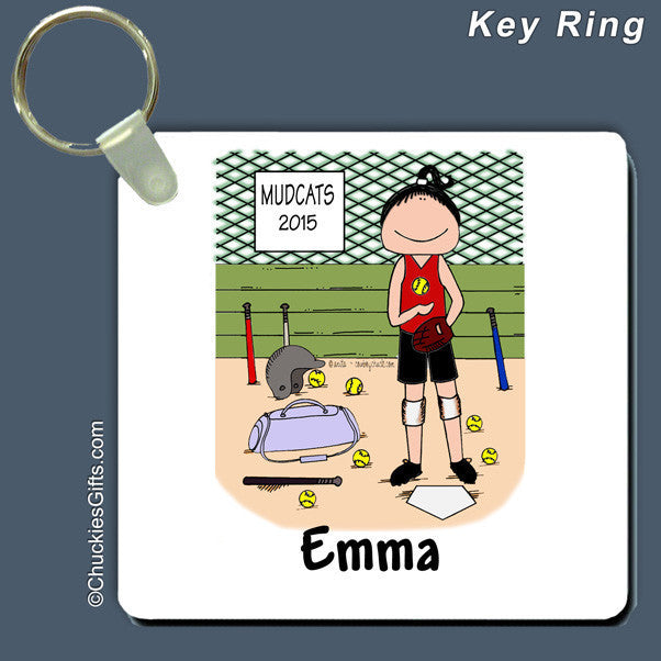 Softball Player Key Ring  | Value Collection