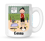 Softball Player Mug Female - Personalized