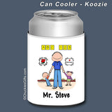 Day Care PreSchool Can Cooler Male Personalized