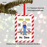 Day Care Preschool Ornament Male - Personalized