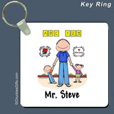 Day Care PreSchool Key Ring Male Personalized