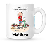 Cat Lover Mug Male Personalized