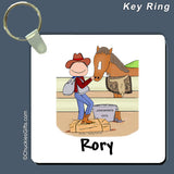 Horse Lover Key Ring Male Personalized