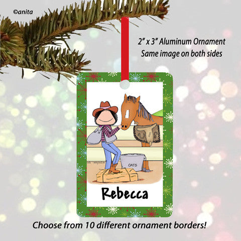 Horse Lover Ornament Female - Personalized