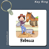 Horse Lover Key Ring Female Personalized