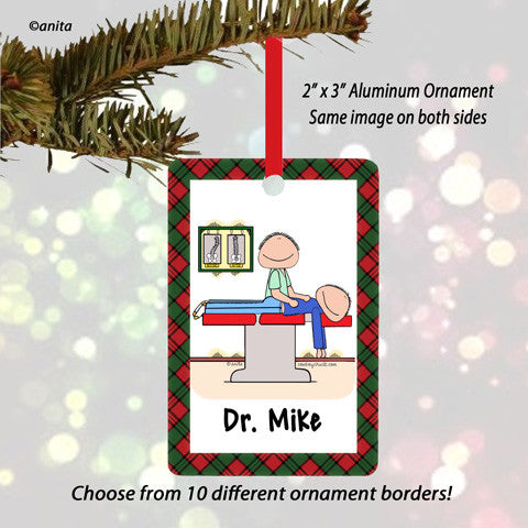 Chiropractor Ornament Male - Personalized