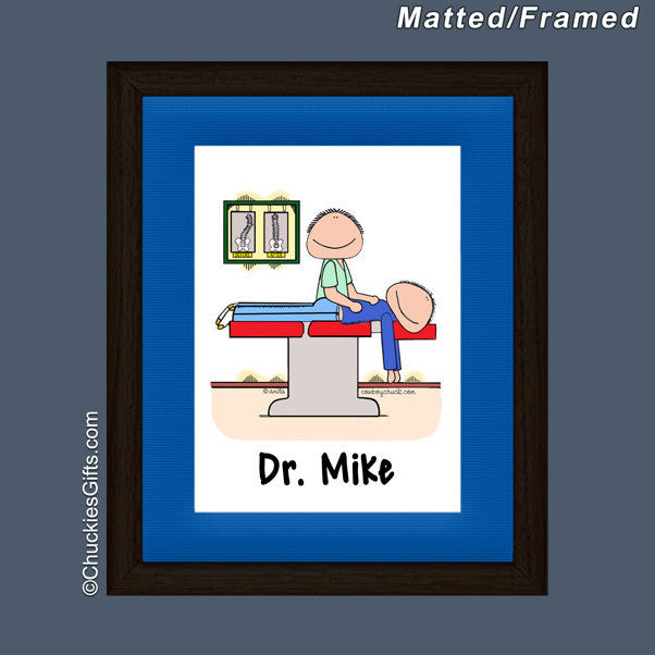 Chiropractor Mat/Frame Male Personalized