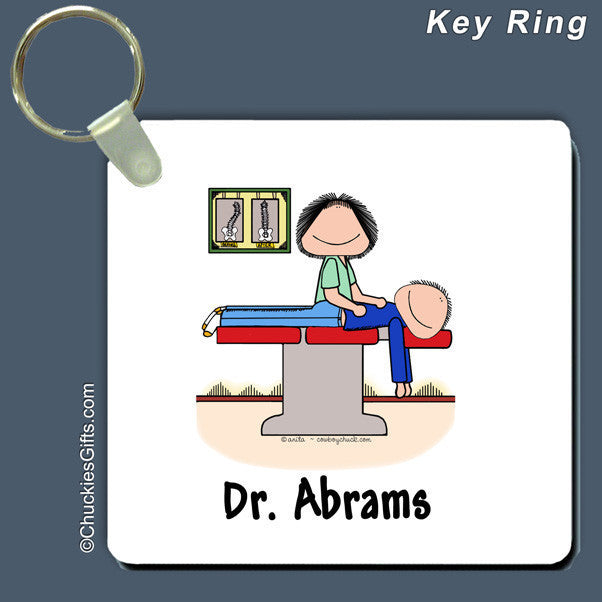 Chiropractor Key Ring Female Personalized