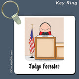 Judge Key Ring Male Personalized