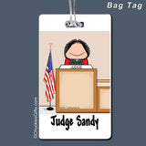 Judge Bag Tag Female Personalized