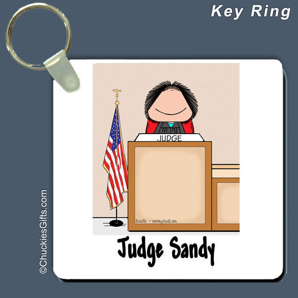 Judge Key Ring Female Personalized