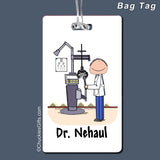 Eye Doctor Bag Tag Male Personalized