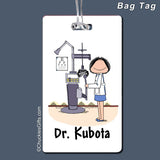 Eye Doctor Bag Tag Female Personalized