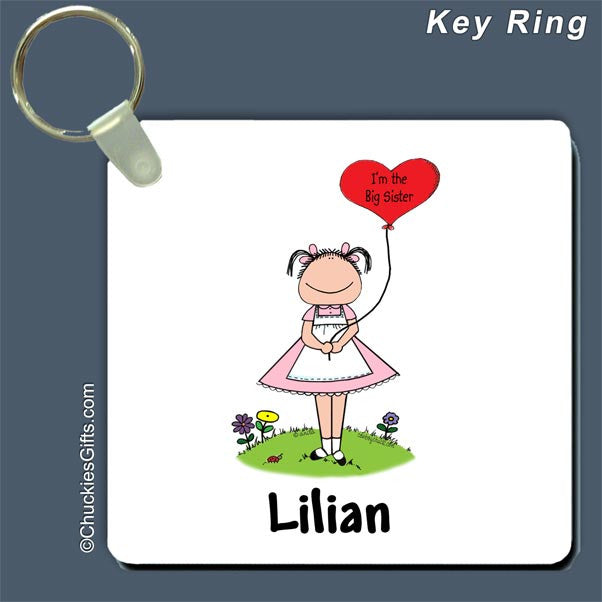 Big Sister Key Ring Female - Personalized 2415
