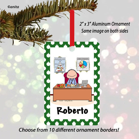 Nutritionist Ornament Male - Personalized