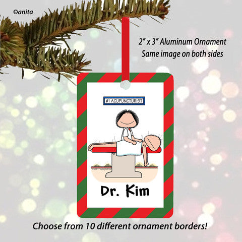 Acupuncturist Ornament Female - Personalized
