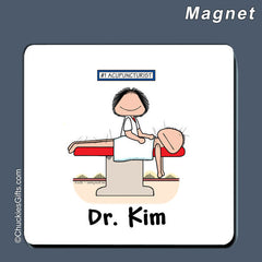 Acupuncturist Magnet Female Personalized