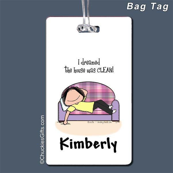 Clean House Bag Tag Female - Personalized 2485
