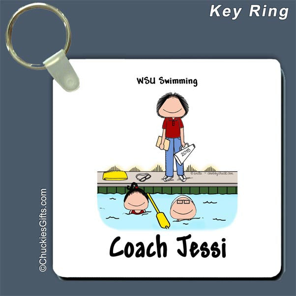 Swim Coach Key Ring  | Value Collection
