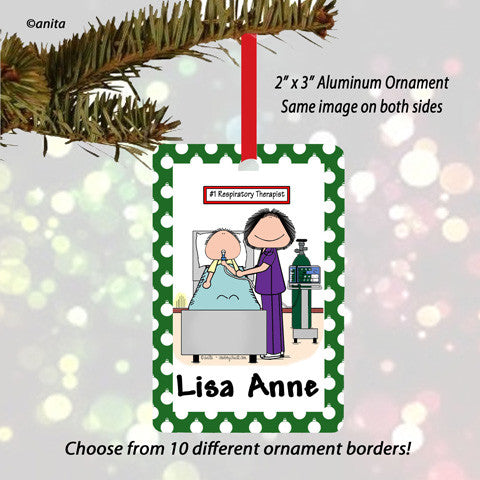 Respiratory Therapist Ornament Female - Personalized