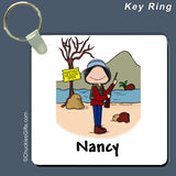 Hunter Key Ring Female Personalized