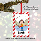 Fishing Ornament Female - Personalized