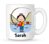 Fishing Mug Female Personalized
