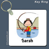 Fishing Key Ring Female Personalized