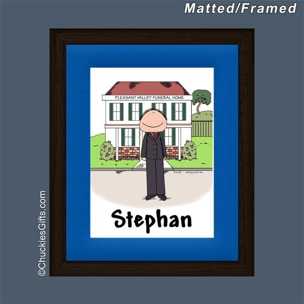 Funeral Director Mat/Frame Male - Personalized 2564