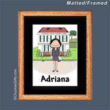 Funeral Director Mat/Frame Female - Personalized 2565