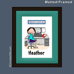 Receptionist Mat/Frame Female Personalized