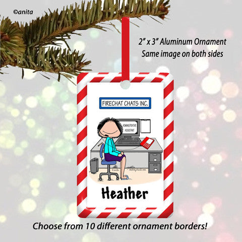 Receptionist Ornament Female - Personalized
